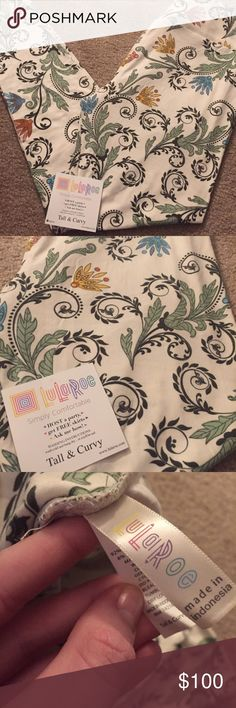 TC LULAROE UNICORN PAISLEY highlight sought after unicorn! White paisley leggings. Tall and curvy. Smoke/pet free home. BNWT. Never worn. LuLaRoe Pants Leggings