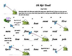 This game is to help teach students how to read words with the long o sounds spelled o,o_e, oa,and ow.  For best use, print on card stock and l...
