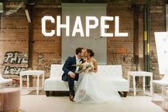 Looking to elope in Toronto? The Pop-Up Chapel Co. is the perfect way to both tie the knot and give back to your community in a beautifully designed and totally inclusive celebration. Tie The Knots, Pop Up, Toronto, Celebration, Loft, Community, Wedding Dresses, Beauty, Design