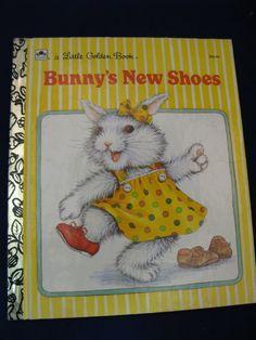 Bunny's New Shoes- Vintage Little Golden Book