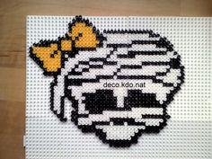 Cleo de Nile skull Monster High hama perler by deco.kdo.nat
