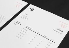 We showcase the most inspirational branding and visual identity works in this gallery, designed by the best graphic designers from around the world. Invoice Design, Stationary Design, Invoice Template, Identity Design, Letterhead Design, Identity Branding, Visual Identity, Invoice Layout, Invoice Sample