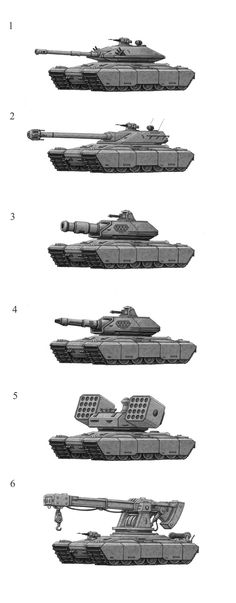 Fenris Tank Variants by jflaxman.deviantart.com on @deviantART