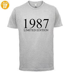 1987 Limierte Auflage / Limited Edition - 30. Geburtstag - Herren T-Shirt - Hellgrau - XXXL (*Partner-Link)