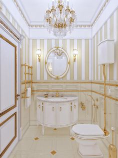 Chic Bathrooms, Dream Bathrooms, Beautiful Bathrooms, Red Bedroom Design, Bathroom Design Luxury, Luxury Homes Interior, Home Interior Design, Small Toilet Room, Gold Bathroom Accessories