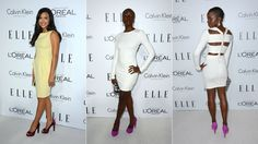 Ignore the yellow dress on the left. It's all about Danai Gurira, looking unbelievably mind-blowingly gorgeous.
