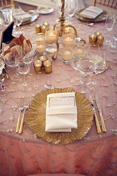Gold wedding Table decoration Ideas