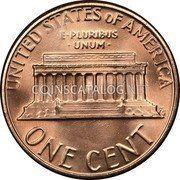 USA Cent Lincoln Cent 1982 KM# 201a UNITED STATES OF AMERICA E PLURIBUS UNUM ONE CENT coin reverse