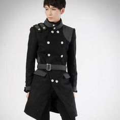 deepstyle wool blend military coat