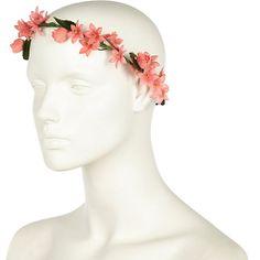 Coral flower hair garland - hair accessories - accessories - women