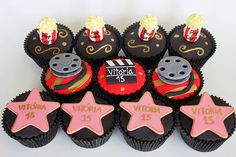 Hollywood Cupcakes...a star is born....baby shower