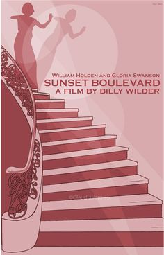Sunset Boulevard (1950) - Minimal Movie Poster by Claudia Varosio #minimalmovieposter #alternativemovieposter #50smovies #claudiavarosio