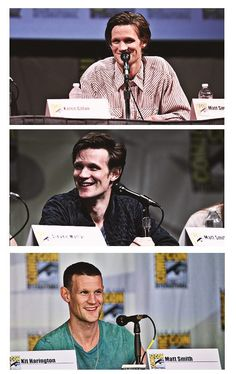Matt Smith at Comic Cons 2011-2013...I think the short hair makes his face look less weird lol