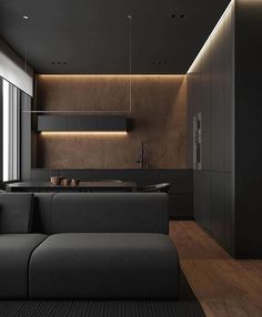 20 Likes, 2 Comments - Perqued Kitchen Room Design, Modern Kitchen Design, Dining Furniture, Furniture Decor, Black Furniture, Küchen Design, House Design, Interior Design Games, Black And White Interior