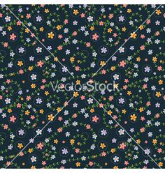 Floral seamless pattern with multicolored flowers vector  by An_Mi on VectorStock®