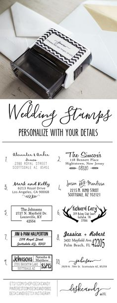 Discover a better way to register at blueprint registry blueprint personalized wedding invitation stamps perfect for save the dates and thank you cards for your wedding malvernweather Gallery