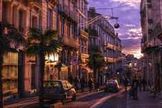 Sunset in Montpellier
