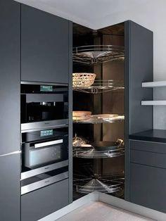 Kitchen Pantry Design, Modern Kitchen Cabinets, Modern Kitchen Design, Home Decor Kitchen, Interior Design Kitchen, Home Kitchens, Kitchen Storage, Kitchen Ideas, Soapstone Kitchen
