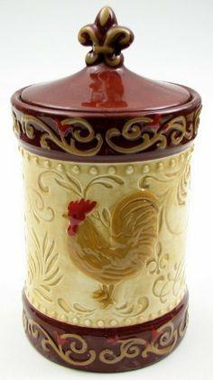 Cookie Jar Fairbanks Vintage Red & White Roosterhen Ceramic Cookie Jar  Pinterest