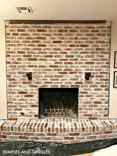 Excellent Screen limewash Brick Fireplace Suggestions Sometimes it makes sense so that you can miss the actual transform! Rather then pulling out an obsolete brick fireplace Fireplace Remodel, Brick Chimney, Fireplace Mortar, Brick Fireplace Makeover, Red Brick Fireplaces, Exterior Makeover, Fireplace, Basement Remodel Diy, Diy Fireplace