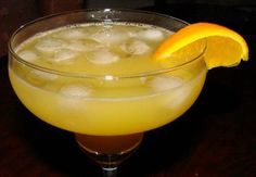 Orange Margarita from Food.com: This is quick and easy to make and goes down almost as quick It's a bit sweeter using orange juice and Grand Marnier! Use your best --tequila--