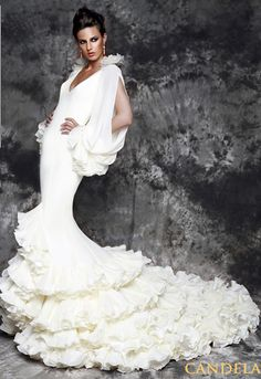 Made in spain on pinterest flamenco flamenco dresses for Flamenco style wedding dress