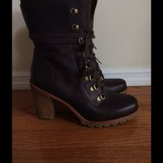 """UGG boots. FLASH SALE ⚡Tonight only. Gorgeously rare UGG boots you will not find anywhere. Moderately worn, in good condition. 3"""" heel, size 8.5. UGG Shoes Heeled Boots"""