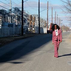Back on the road, personal branding journey, Women entrepreneurs, Wearing Red Floral Suit, fun funky womens suits, womens suits fashion, African American woman natural hair, Dr. Talaya Waller, CEO
