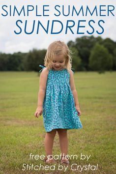 STITCHED by Crystal: Simple Summer Sundress - 30 Days of Sundresses Sun sun dresses plus size sun dresses with sleeves sundress outfits sundresses dresses sundresses for weddings dresses sundresses Wedding Invitations Trends 2019 Toddler Sewing Patterns, Kids Clothes Patterns, Sewing Kids Clothes, Baby Sewing, Free Sewing, Kids Dress Patterns, Sewing Pants, Canvas Patterns, Barbie Clothes