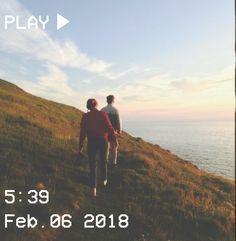 M O O N V E I N S 1 0 1 #vhs #aesthetic #couple #grass #sky #ocean #hill