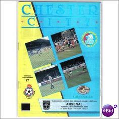 Chester City v Arsenal 25/09/1990 League Cup Football Programme Sale