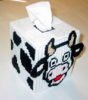 Plastic Canvas Tissue Box Patterns   Tissue Box Cover Fits Bouquet Style Tissue Box Cover