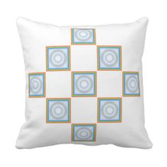 Diamond Rainbow Tiled Sofa Pillow Custom Design from Touch of the Wind by Janz