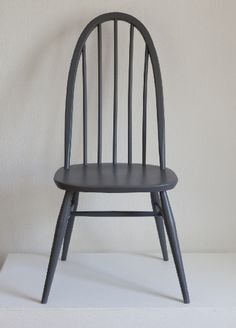 Ercol Grey Painted Quaker Chair-Andrew Lanyon
