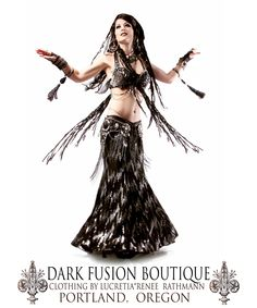 Bra, Belt and Skirt by: Dark Fusion Boutique Model: Lucretia* Renee Rathmann Hand-made in Portland, Oregon https://www.etsy.com/listing/245500283/professional-bellydance-bra-belt-set-36c?ref=shop_home_active_6