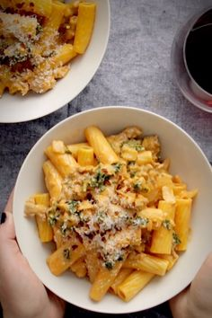 Date Night Rigatoni! AMAZING rigatoni with sausage, kale, tomato cream sauce, Parmesan, and red pepper flakes! Pasta Recipes, Beef Recipes, Italian Recipes, Vegan Recipes, Cooking Recipes, Rigatoni Recipes, I Love Food, Pasta Dishes, Food Videos