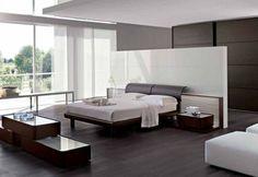 elegante weiße trennwand im schlafzimmer