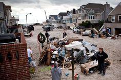 Sandy's wrath on Rockaway Beach, Queens