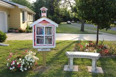 """Carol Lochner. Oregon, WI. The first time I heard about the """"Little Free Library"""" was at a fundraiser book sale at my work. It dawned on me at that moment that it would be a welcomed addition to our neighborhood! What a wonderful way to share our love of reading books. A special THANK YOU to all of the generous people, who provided the materials, built, decorated and set up our Little Free Library! It wouldn't have been possible without your help."""