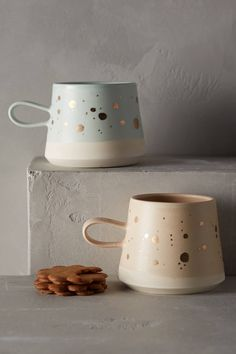 Gold-Flecked Mug - anthropologie.com