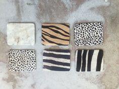 Animal Print Fur Coasters (6) by SoAkiba on Etsy