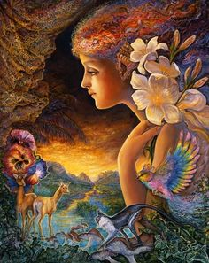 moon goddess Fantasy Paintings by British artist Josephine Wall. From childhood Josephine has had a passion for light and colour, fantasy and visual story Josephine Wall, Fantasy World, Fantasy Art, Art Expo, Fantasy Paintings, Wall Paintings, Acrylic Paintings, Artist Painting, Oracle Cards