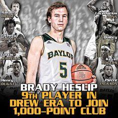 Brady Heslip became #Baylor men's basketball's 27th all-time 1,000-point scorer Saturday vs. WVU. #SicEm