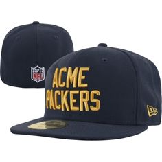 New Era Acme Packers On-Field Classic 59FIFTY Fitted Hat - Navy Blue. Green  Bay ... 4cb81d7ee