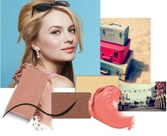 Be a Beach Beauty! Get the look with Copper Glow and Gold Coast Mineral Eye Colors, Jet Black Gel Eyeliner, Ultimate Mascara™, Strawberry Cream Mineral Cheek Color and Color Me Coral True Dimensions™ lipstick. #HelloSunshine