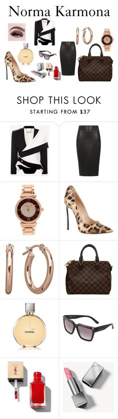 """""""Norma Karmona"""" by normakarmona on Polyvore featuring moda, Alexander McQueen, Dorothy Perkins, Michael Kors, Casadei, Louis Vuitton, Chanel, Karl Lagerfeld y Burberry"""