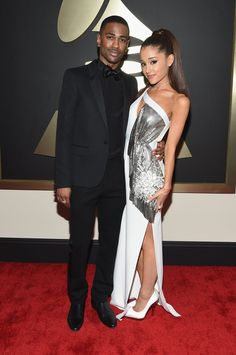 Pin for Later: See All of Music's Brightest Stars on the Grammys Red Carpet! Big Sean and Ariana Grande
