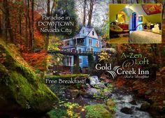 Gold Creek Inn B&B A-Zen Loft - Bed and breakfasts for Rent in Nevada City, California, United States Nevada City, Bed And Breakfast, Perfect Place, Zen, Condo, Loft, California, Activities, Vacation