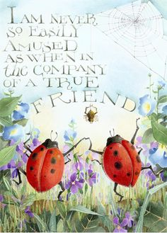 ladybug friends original watercolor art child's by atticEditions, $200.00