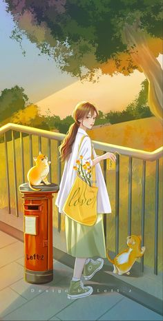 Cool Anime Girl, Anime Art Girl, Cute Couple Art, Anime Scenery Wallpaper, Cute Drawings, Cartoon Art, Cute Wallpapers, Aesthetic Anime, Cute Art